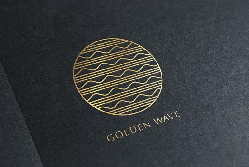 Golden Wave Logo Concept