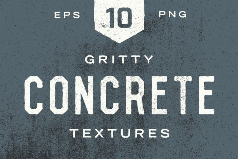 Gritty Concrete Textures Background