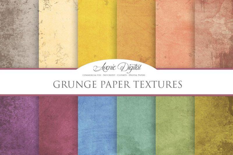 Grunge Digital Paper Textures