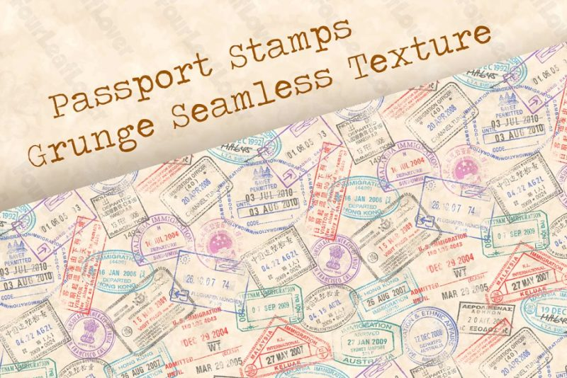 Grunge Seamless Stamps Textures