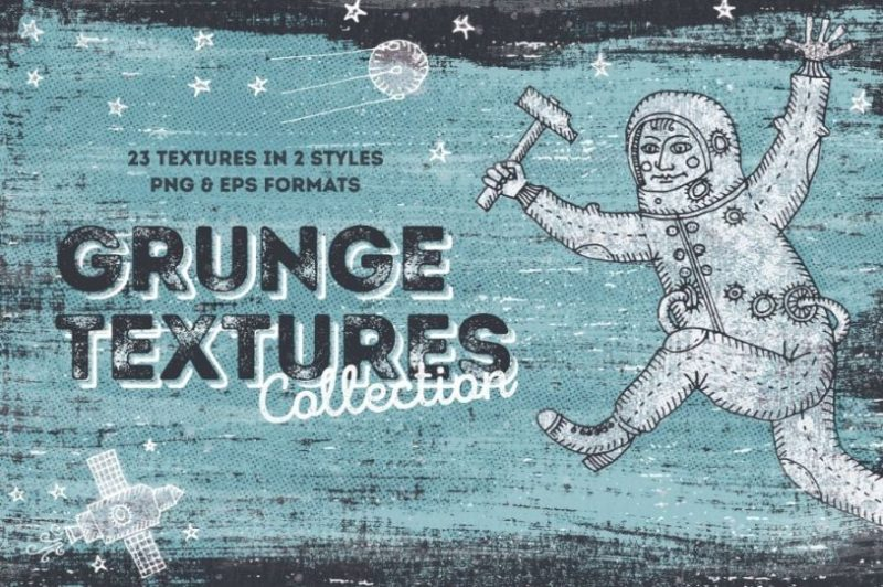 Grunge Texture Collection PNG