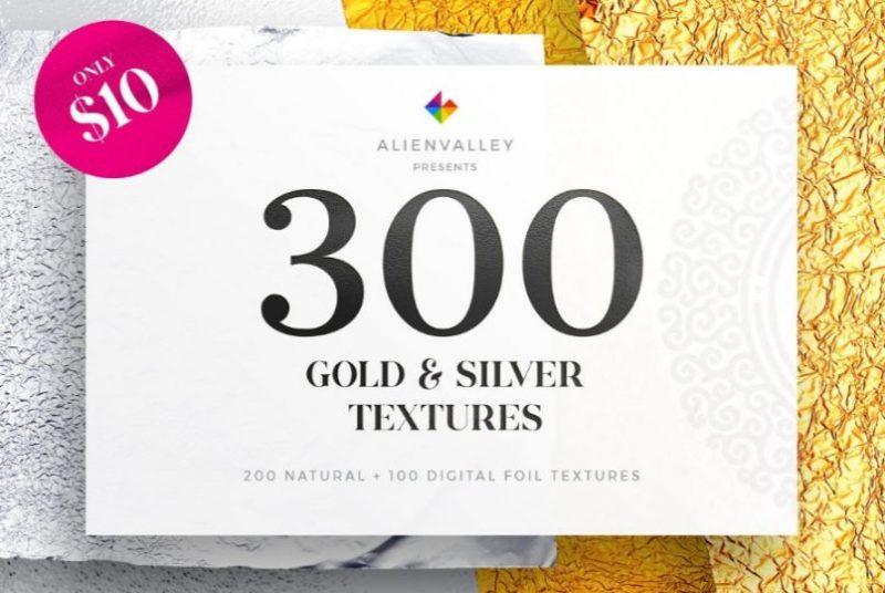 HD 300 Gold and Silver Textures