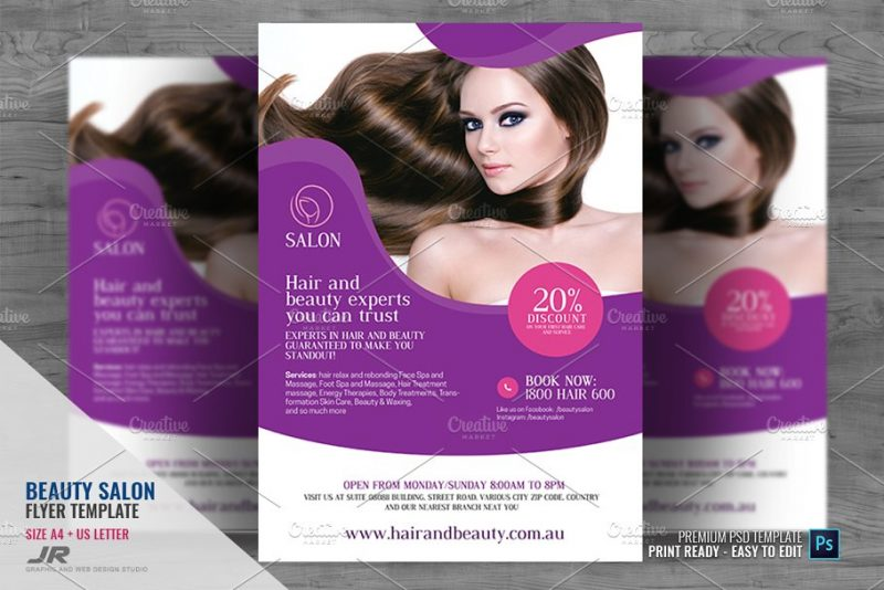 Hair Beauty Services Flyer
