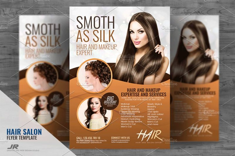 Hair and Makeup Flyers
