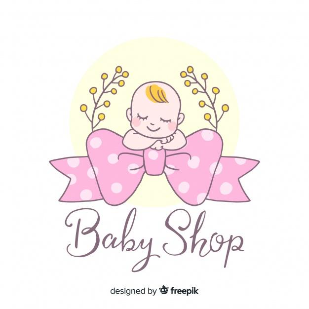 Hand Drawn Baby Logo Design