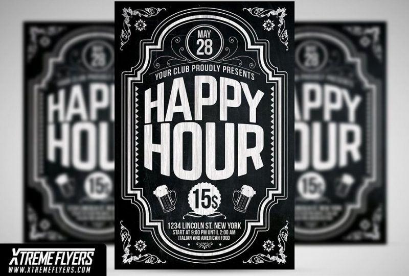 Happy Hour Club Flyers