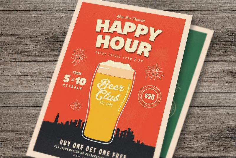 Happy Hour Flyers Template