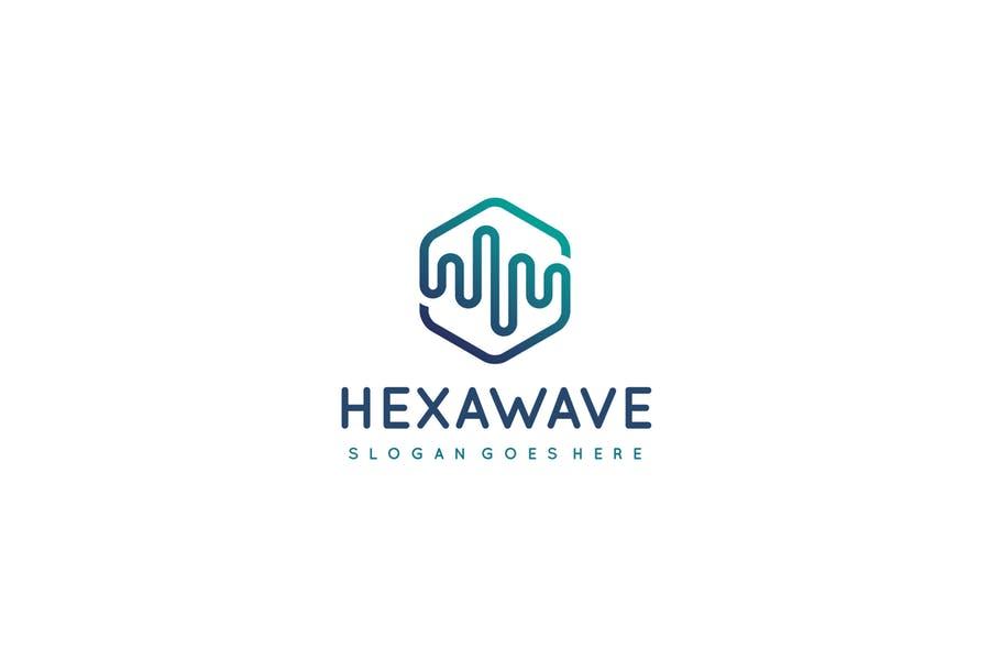 Hexa Wave Logo Design