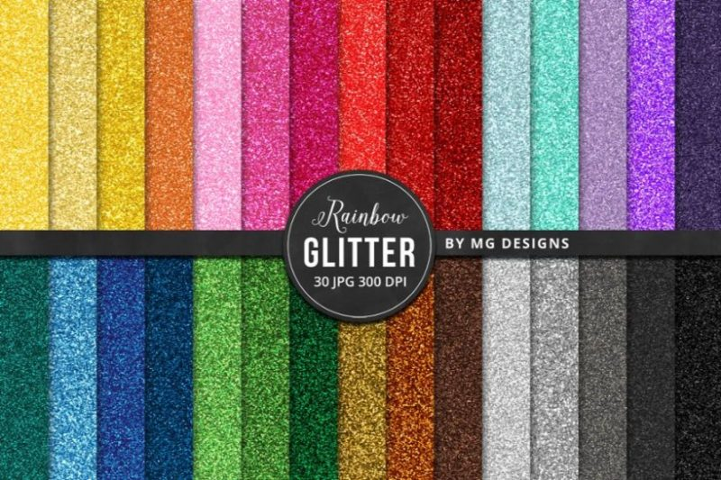 High Quality Glitter Textures Bundle