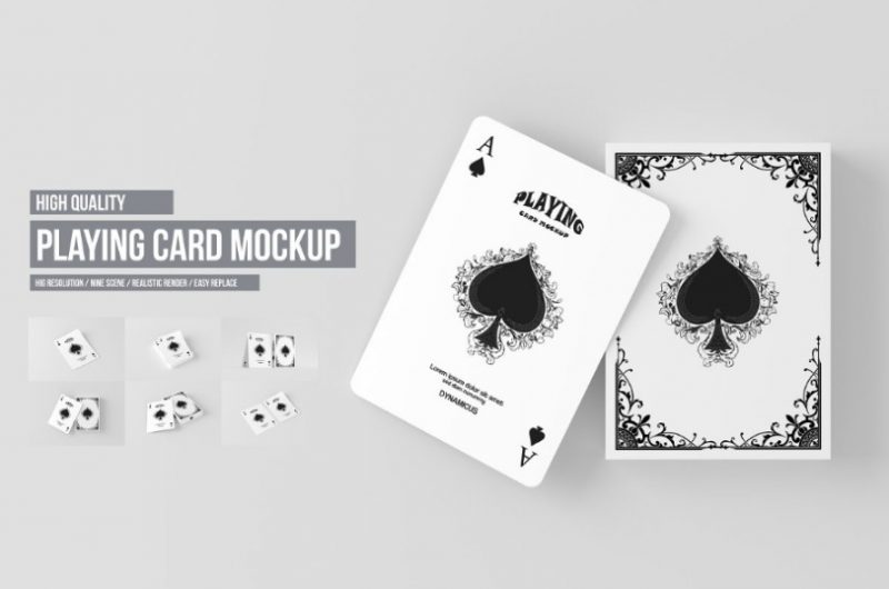 High Quality Playing Cards Mockup