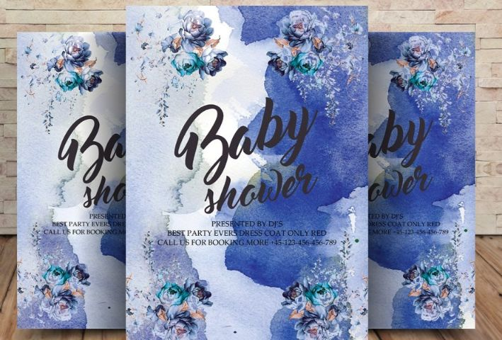 High Resolution Baby Shower Templates