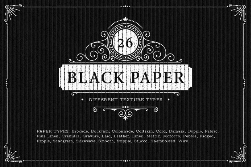 High Resolution Black Paper Textures