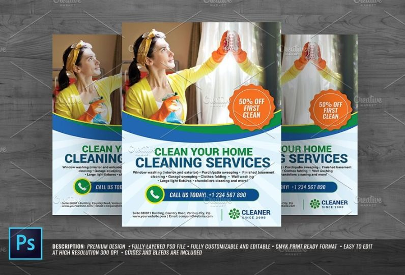 High Resolution Cleaning Service Flyer