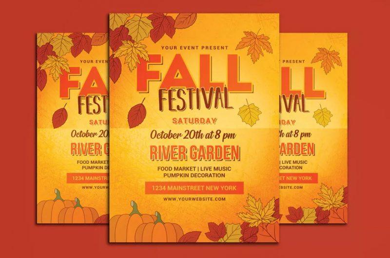 High Resolution Fall Flyer Template
