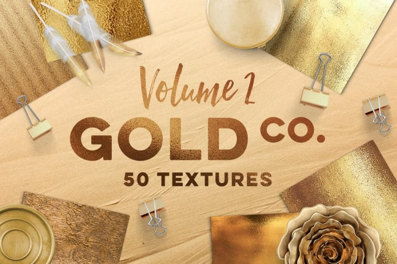 High Resolution Gold Textures