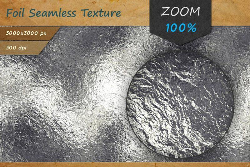 High Resolution Metal Foil Textures