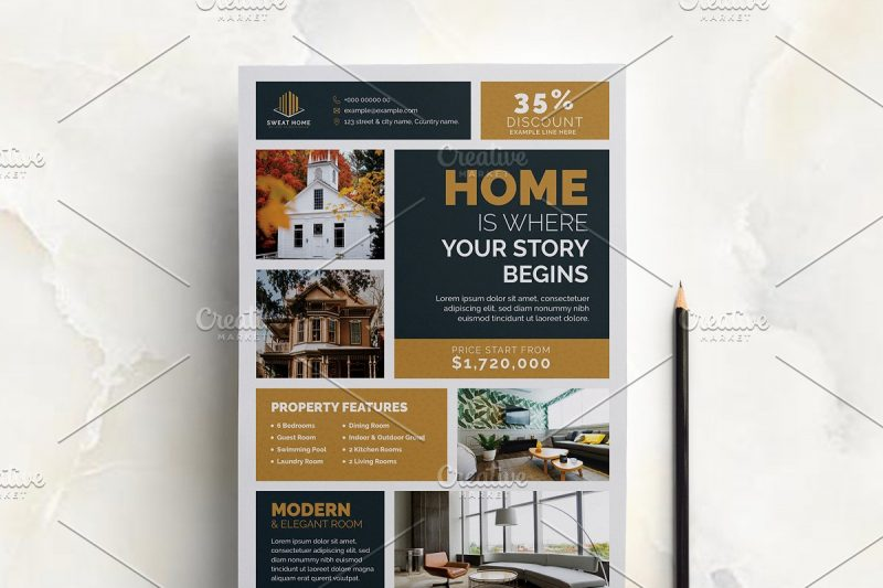 High Resolution Real Estate Flyers