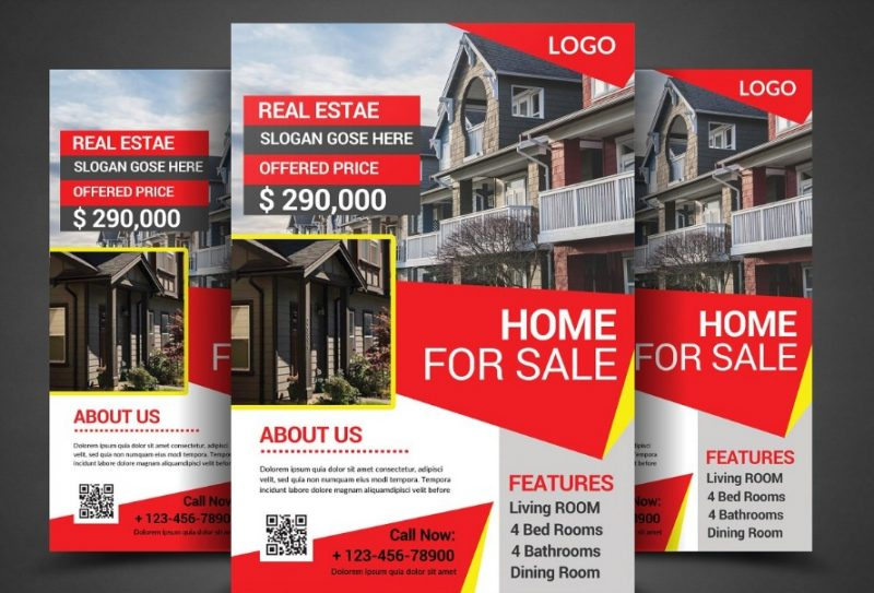 Home for Sale Flyer PSD