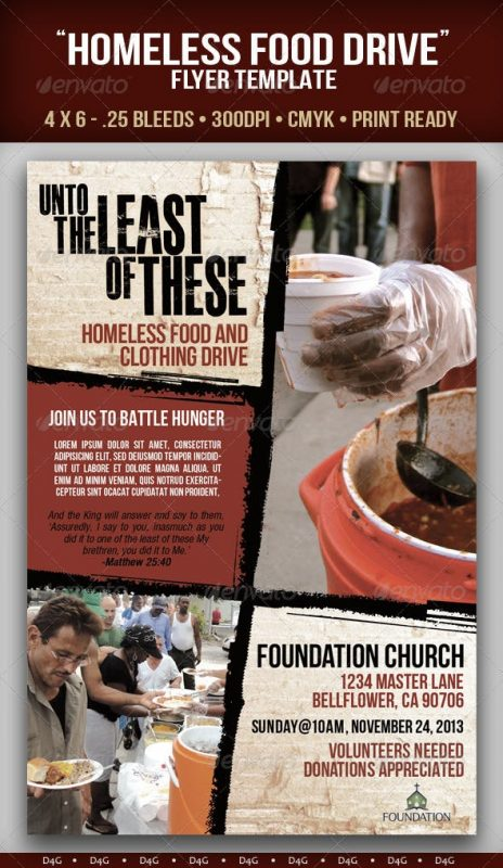 Homeless Food Drive Flyer