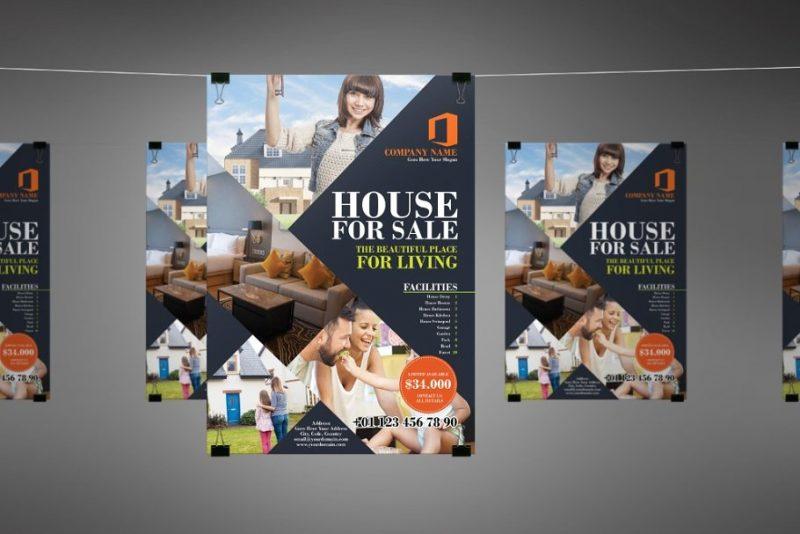 House for Sale Flyer PSD