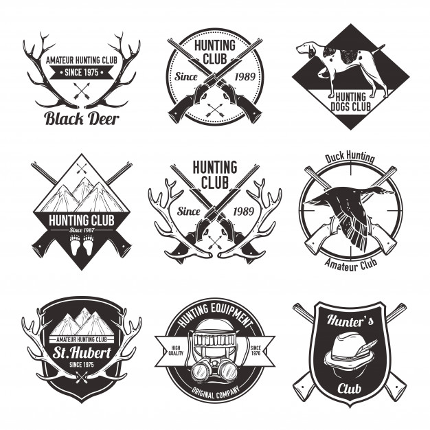 Hunting Logo Design Set