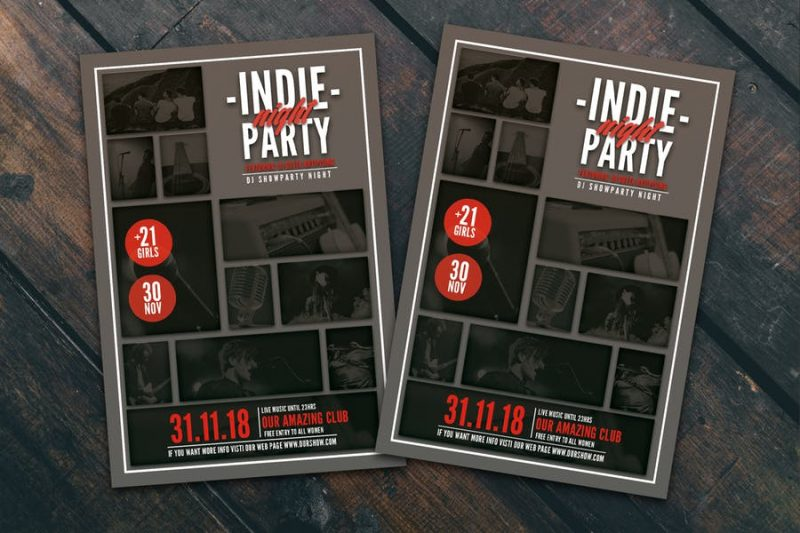 Indie Band Tour Flyer Ai