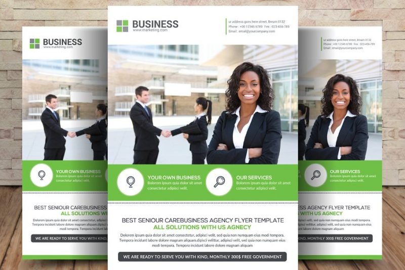 Insurance Agency Flyer Template PSD