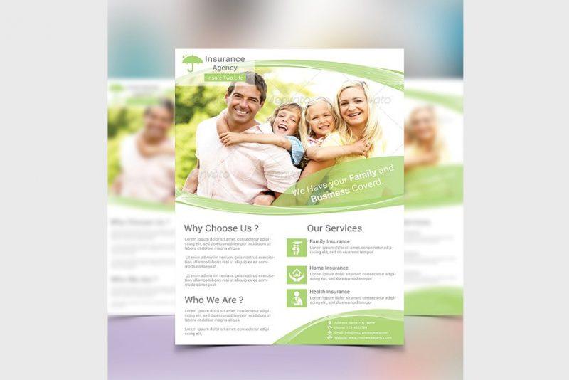 Insurance Flyer Template PSD