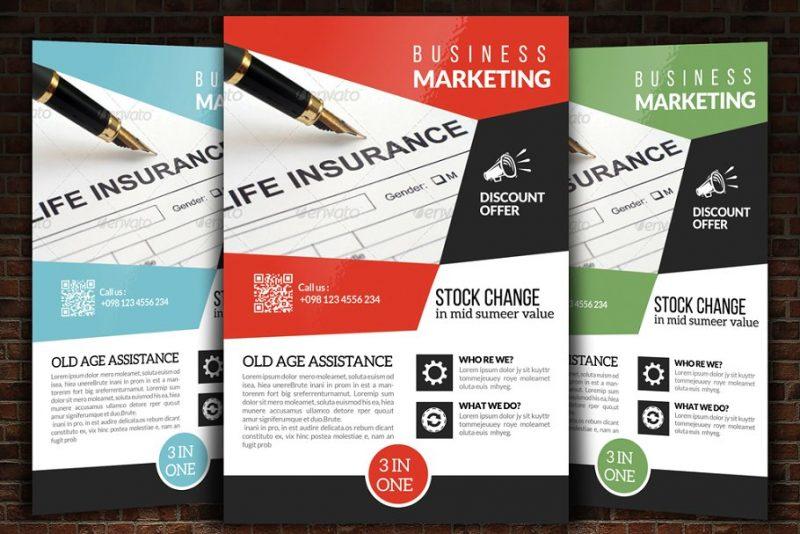 Insurance Marketing Flyer Template