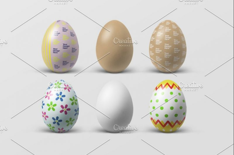 Isolated Easter Eggs Mockup