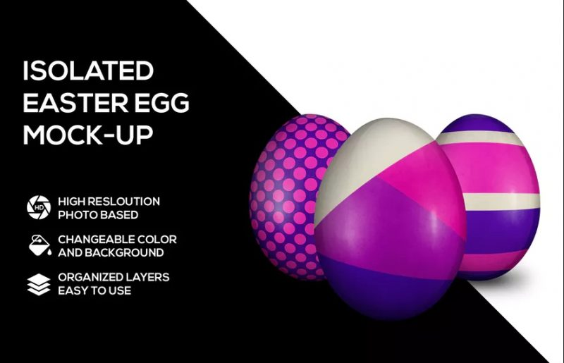 9+ Realistic Easter Egg Mockup PSD Download (2020)