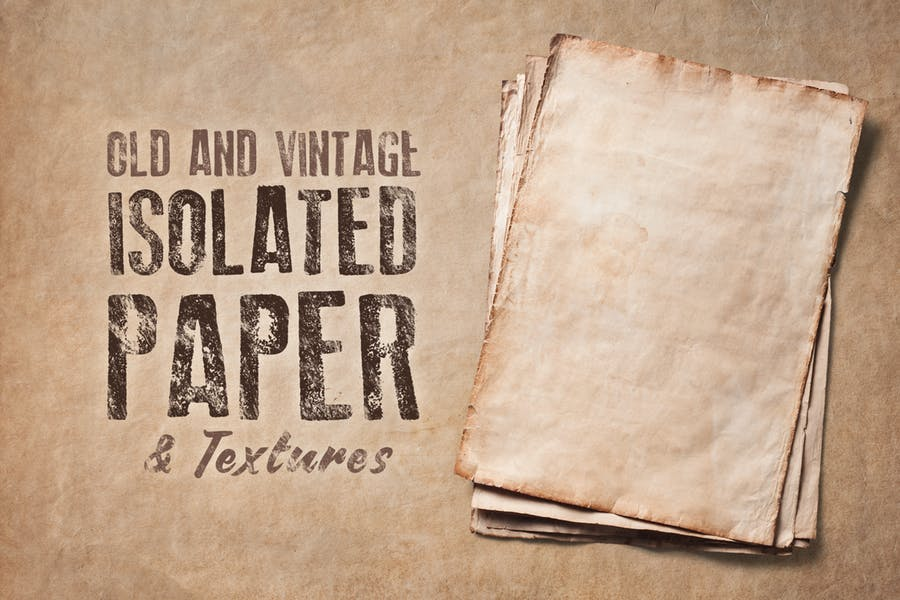 Isolated Vintage Paper and Texture