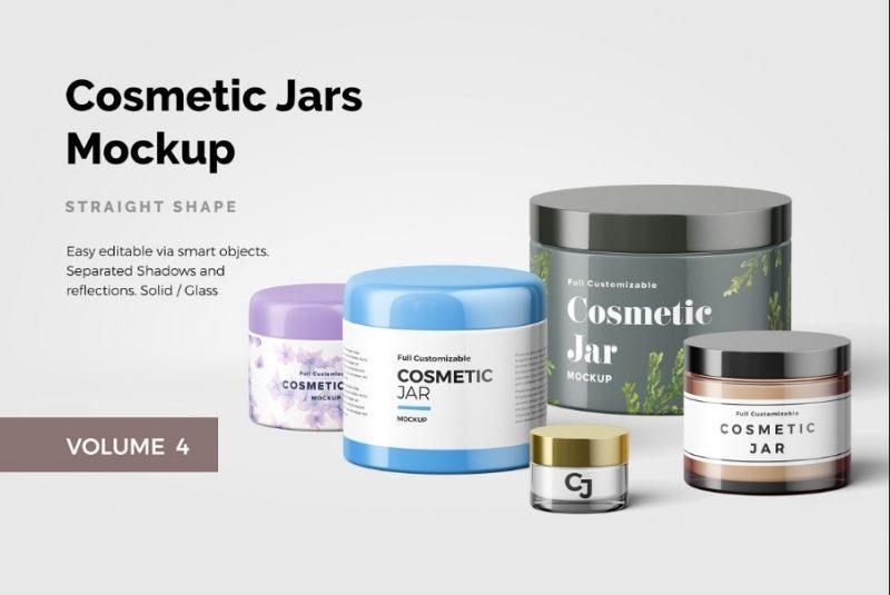 Jar Branding Mockup PSD