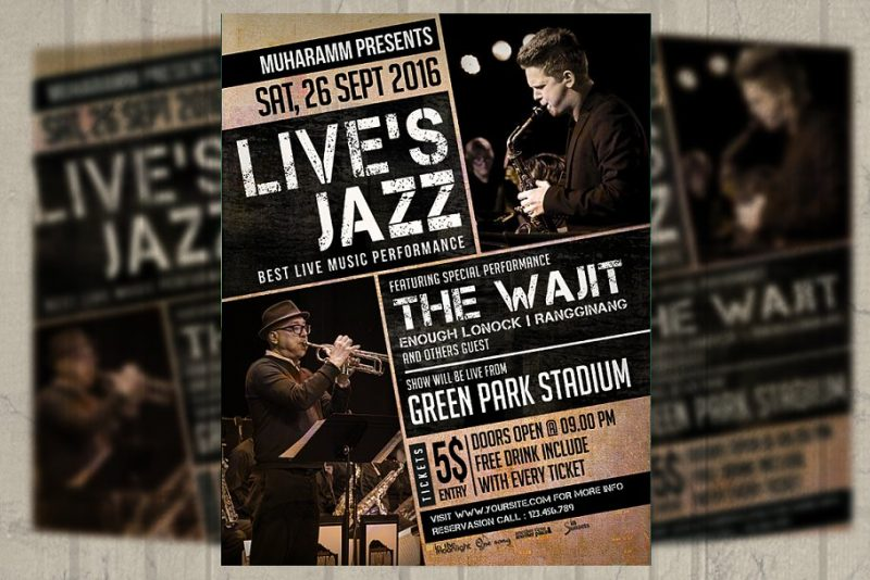 Jazz Event Flyers Template