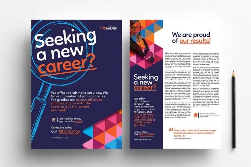 Job Ads Flyer PSD
