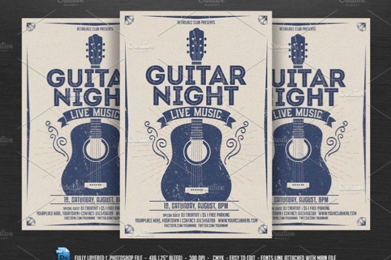 Guitar Night Flyer