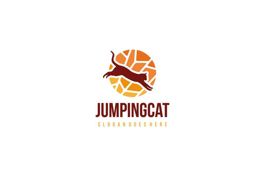 Jumping Cat Logo Design