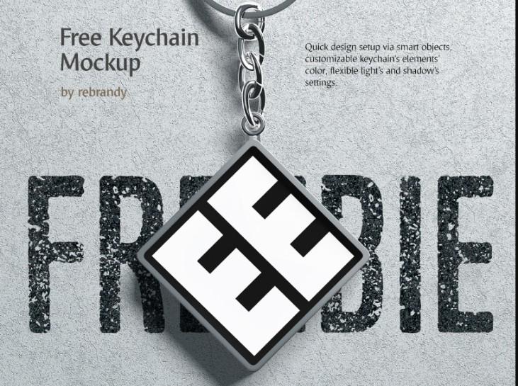 Keychain Branding Mockup PSD