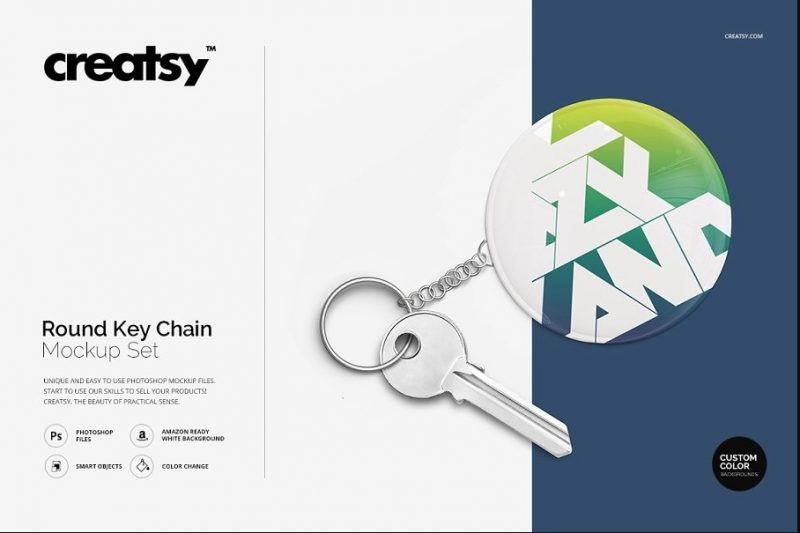 Keychain Design Presentation PSD