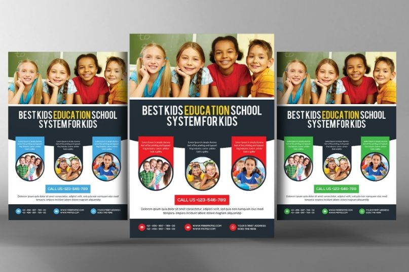 Kids Day School Flyer Templates