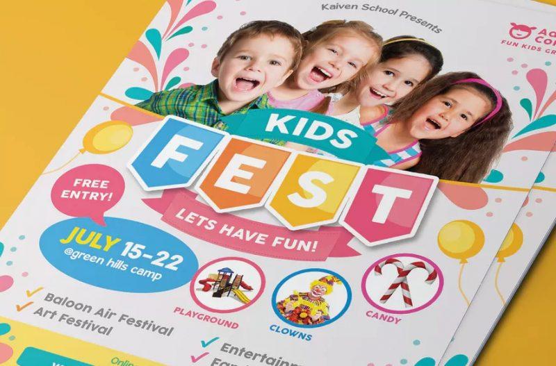Kids Festival Flyer Template PSD