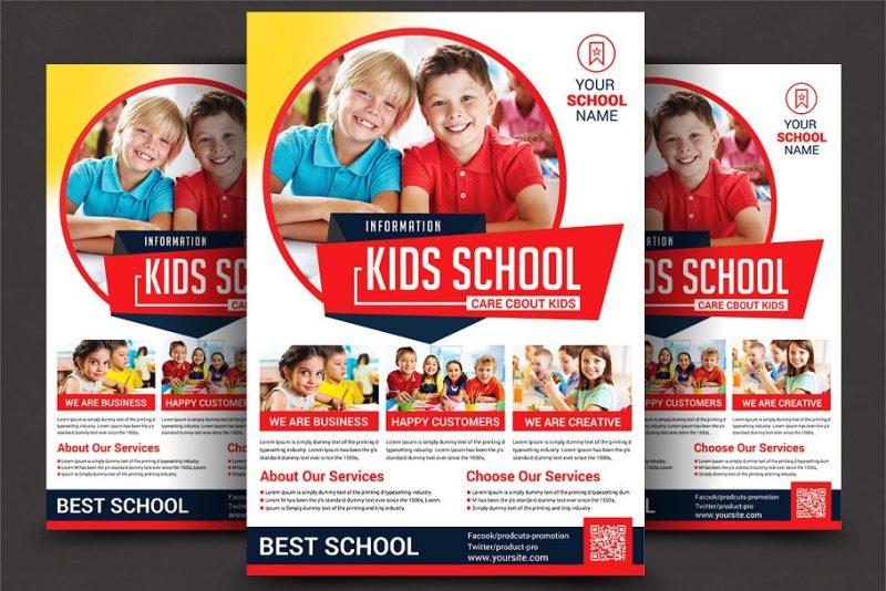 Kids School Flyers PSD