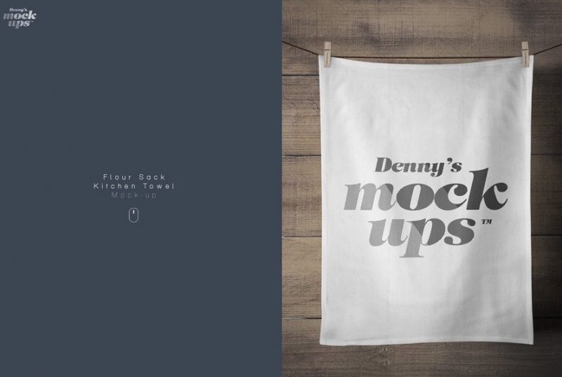 Kitchen Towel Mockup PSD
