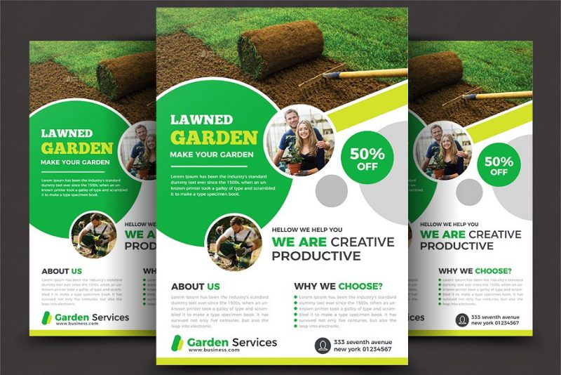 Lawn Care Flyers PSD