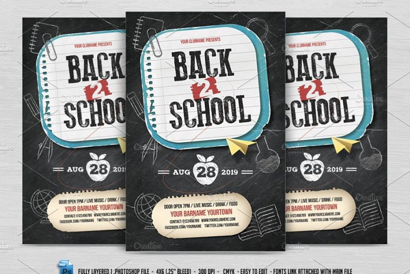 Layered Back to School Flyer