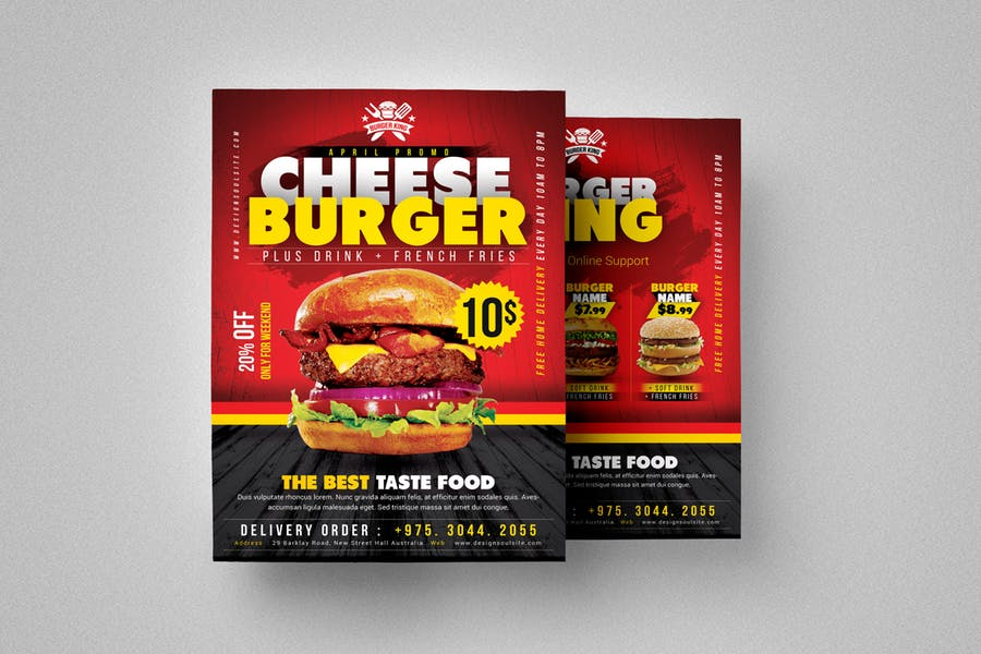 Layered Burger Flyer Template
