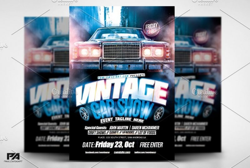 Layered Car Show Flyers