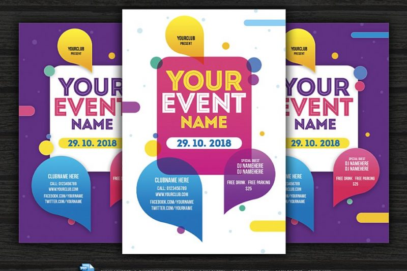 Layered Event Flyers PSD