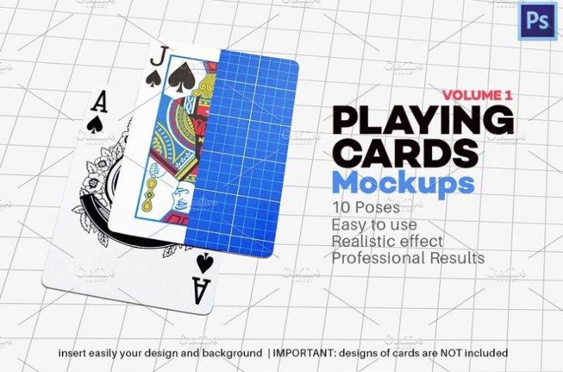 Layered Pokers Card Mockup