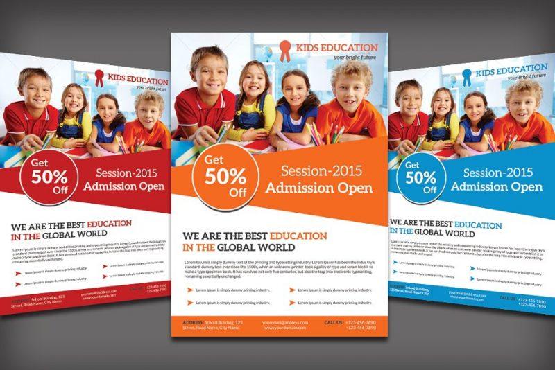 Layered School Flyer Templates